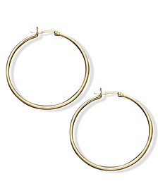 Large Hoop Earrings in 18k Gold Over Sterling Silver, 1.5""