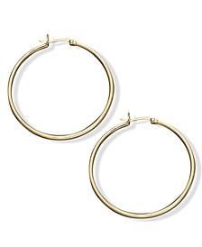"Large Hoop Earrings in 18k Gold Over Sterling Silver, 1.5"""