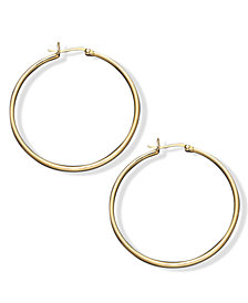 Giani Bernini Hoop Earrings in 18k Gold Over Sterling Silver, 1-1/2""