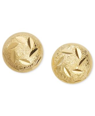 Image of Giani Bernini 24k Gold over Sterling Silver Earrings, Decorated Ball Stud