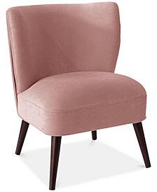 Logan Pleated Chair, Quick Ship