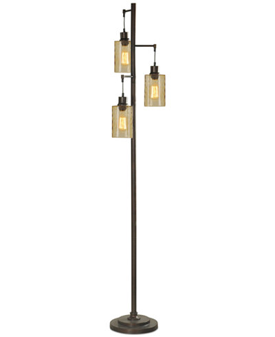 Stylecraft dimpled glass floor lamp lighting lamps home macys stylecraft dimpled glass floor lamp aloadofball Images