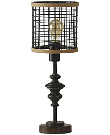 StyleCraft Cage Metal Table Lamp