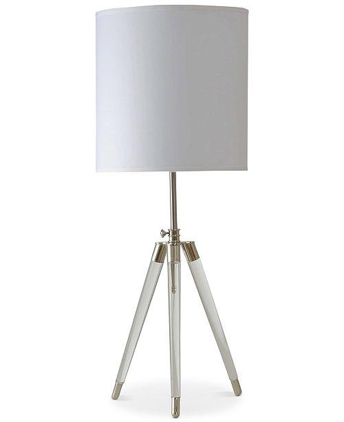 Stylecraft acrylic tripod table lamp lighting lamps home macys main image aloadofball Image collections