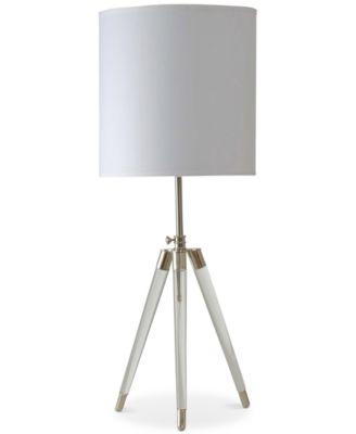 StyleCraft Acrylic Tripod Table L&  sc 1 st  Macyu0027s & StyleCraft Acrylic Tripod Table Lamp - Lighting u0026 Lamps - For The ... azcodes.com