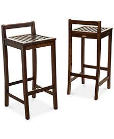 Jasen Set of 2 Bar Stools, Quick Ship