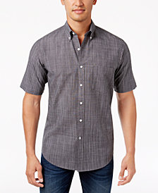 Club Room Men's Short-Sleeve Shirt with Pocket, Created for Macy's