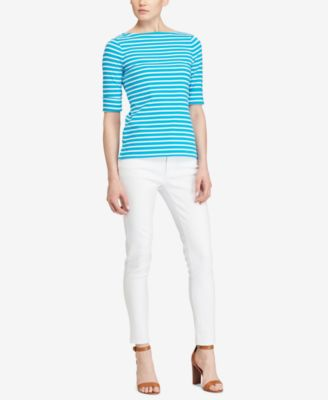 Image of Lauren Ralph Lauren Stretch Bateau Shirt