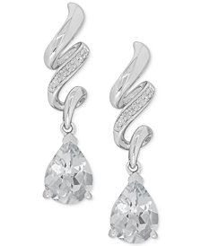 White Topaz (2-1/2 ct. t.w.) & Diamond Accent Drop Earrings in Sterling Silver