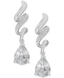 White Topaz (2-1/2 ct. t.w.) & Diamond Accent Drop Earrings in Sterling Silver