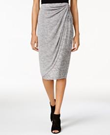 Bar III Draped Faux-Wrap Skirt, Created for Macy's