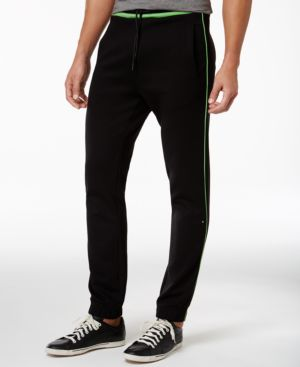 HUGO BOSS Green Hadiko Banded Sweatpants in Black