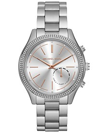 Michael Kors Access Women's Slim Runway Stainless Steel Bracelet Hybrid Smart Watch 42mm MKT4004