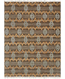 "Owen OW-06 Taupe/Mist 7'9"" x 9'9"" Flatweave Area Rug"