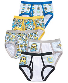 Despicable Me 5-Pk. Briefs, Little Boys & Big Boys