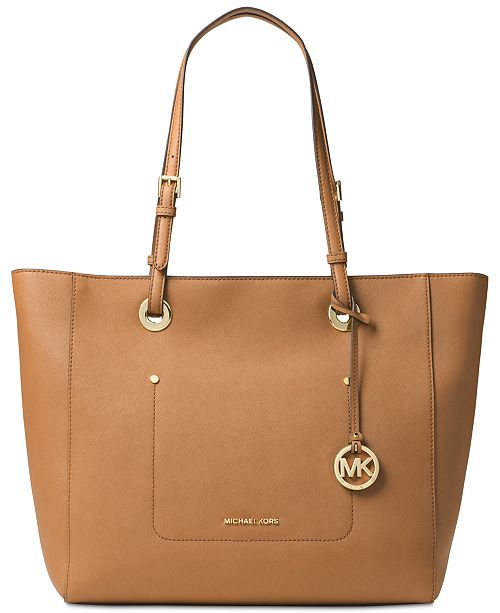 e464c605843530 Michael Kors Walsh Large East West Top-Zip Tote & Reviews ...