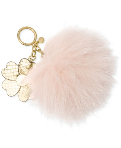MICHAEL Michael Kors Large Pom Pom with Flower Keychain
