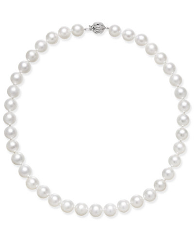 Cultured White South Sea Pearl (8mm - 12mm) Graduated Collar Necklace