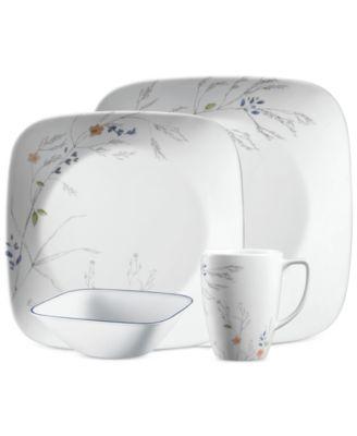 main image; main image ...  sc 1 st  Macy\u0027s & Corelle Boutique Adlyn Square 16-Piece Dinnerware Set - Dinnerware ...