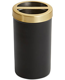 Paradigm Tuxedo Black Toothbrush Holder
