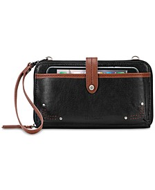 Iris Smartphone Leather Crossbody Wallet