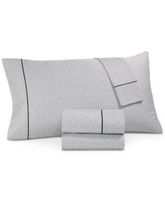 Greek Key Pima Cotton 525-Thread Count Pair of Standard Pillowcases, Created for Macy's