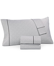 Hotel Collection Greek Key Pima Cotton 525-Thread Count 3-Pc. Twin Sheet Set, Created for Macy's