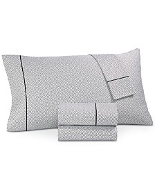 CLOSEOUT! Hotel Collection Greek Key Pima Cotton 525-Thread Count 4-Pc. California King Sheet Set, Created for Macy's