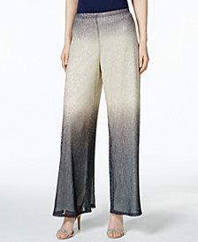 MSK Metallic Wide-Leg Pants