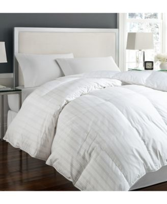 blue ridge tuxedo damask stripe oversize twin white down comforter