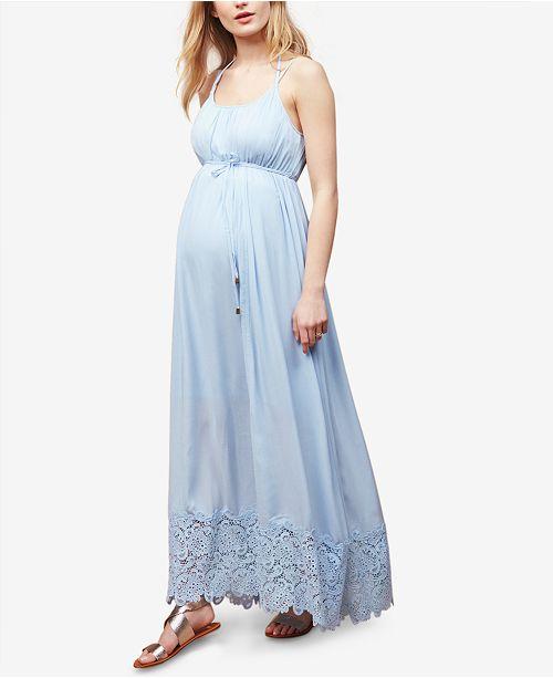 6ec3248504c Motherhood Maternity Lace-Trim Maxi Dress   Reviews - Maternity ...