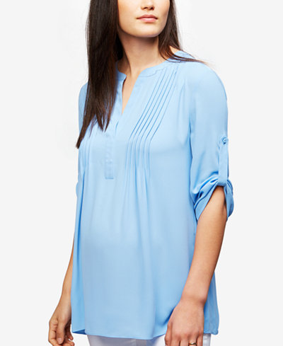 A Pea in the Pod Maternity Split-Neck Blouse