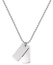 Sutton by Rhona Sutton Men's Stainless Steel Double Dog Tag Pendant Necklace