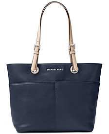 Tote Bag On Sale, brown leather, Leather, 2017, one size Michael Kors