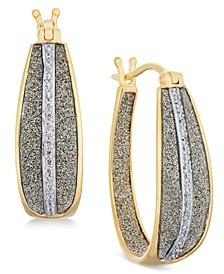 Diamond Glitter Hoop Earrings (1/3 ct. t.w.) in 18k Gold over Sterling Silver