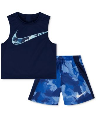 Image of Nike 2-Pc. Legacy-Print Tank Top & Shorts Set, Toddler & Little Boys (2T-7)