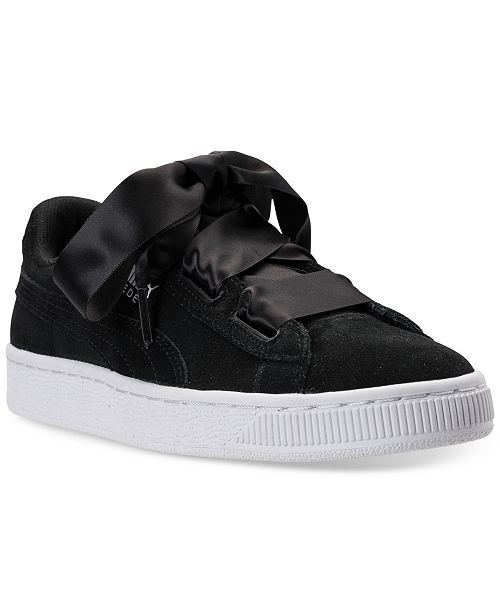 bd7c2b35ed66 ... Puma Big Girls  Suede Heart Casual Sneakers from Finish Line ...
