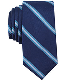 Bar III Men's Hancock Stripe Skinny Tie, Created for Macy's