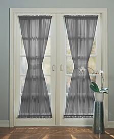 """Sheer Voile 59"""" x 72"""" Door Curtain Panel"""
