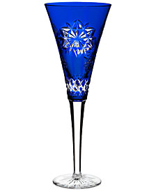 Waterford Flute, Artisan Signed Snowflake Wishes For Friendship Prestige Edition Flute