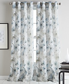 Modern Bloom Curtain Panels