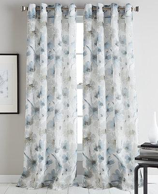 Dkny Modern Bloom 50 Quot X 84 Quot Curtain Panel Window