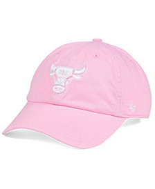 '47 Brand Women's Chicago Bulls Petal Pink CLEAN UP Cap