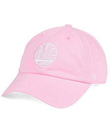 '47 Brand Women's Golden State Warriors Petal Pink CLEAN UP Cap