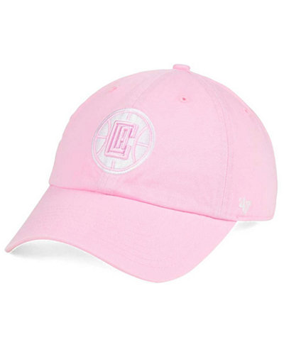 '47 Brand Women's Los Angeles Clippers Petal Pink CLEAN UP Cap