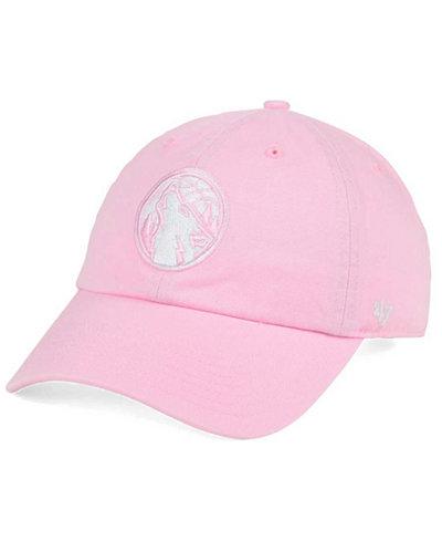 '47 Brand Women's Minnesota Timberwolves Petal Pink CLEAN UP Cap