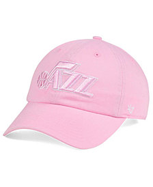 '47 Brand Women's Utah Jazz Petal Pink CLEAN UP Cap