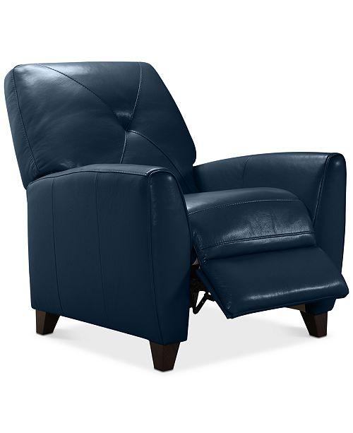 Peachy Myia Leather Pushback Recliner Created For Macys Inzonedesignstudio Interior Chair Design Inzonedesignstudiocom