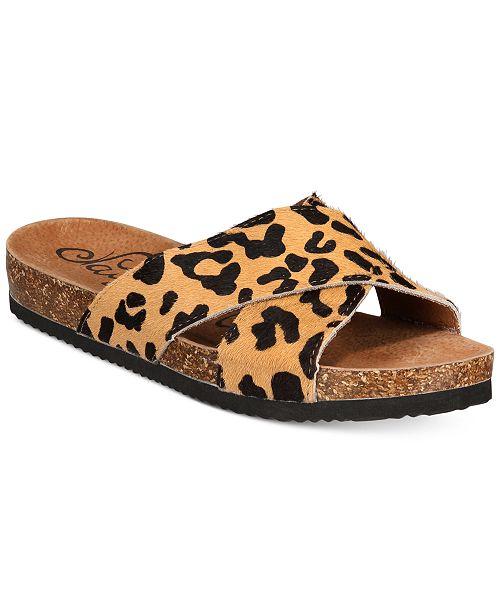 c500431cf16a67 Naughty Monkey Magdelena Animal-Print Sandals   Reviews ...