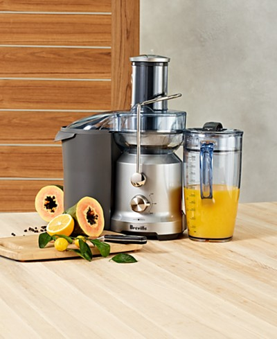 Breville BJE430SIL Large-Capacity 70-oz. Cold Juice Fountain